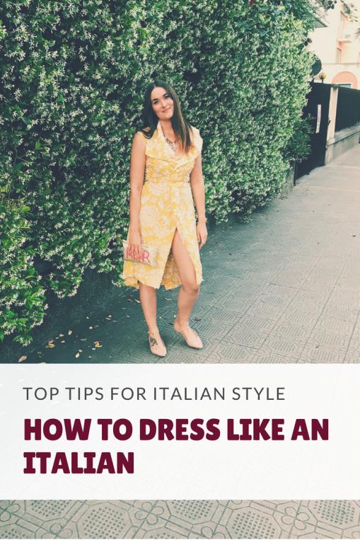 How to dress like an Italian